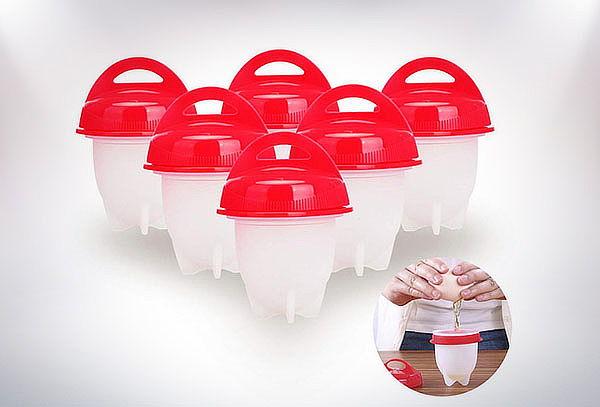 Set de 6 Moldes de siliciona para cocinar huevos