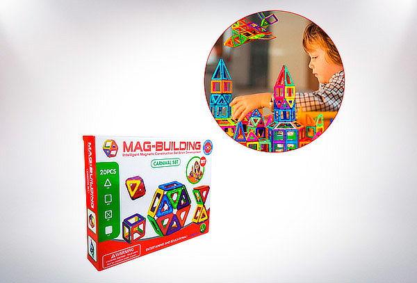 Juego Magnético Didáctico 20 Piezas Mag-building