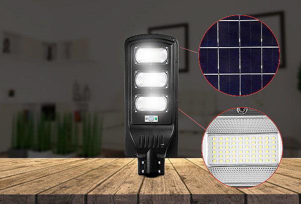Foco Solar 120w Sensor Movimiento + Control