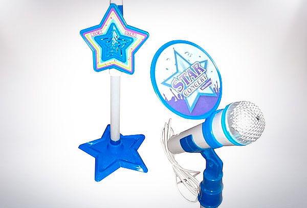 Micrófono Con Pedestal Mp3 Karaoke Ajustable