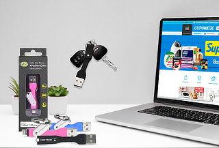 Cable Apple Lightning Tipo Llavero Gear Head LC4000BKL