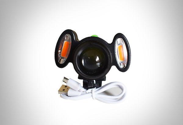 ¡Ilumina tu camino! Linterna frontal para bicicleta