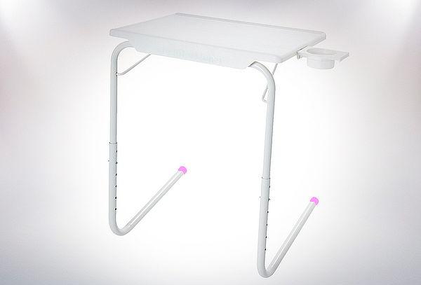 Mesa Ajustable y Plegable con Posa Vasos