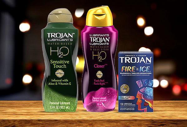 Pack trojan Premium 10 Fire & Ice + Lubricante a elección