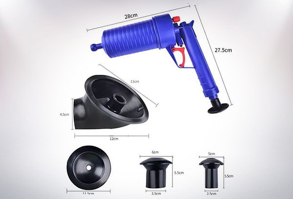Destapador Bomba de Aire a presión manual de alto impacto