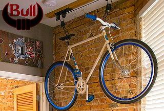 Elevador de Bicicletas con Polea de Fierro