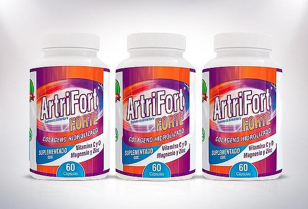 1 o 3 Frascos de Colágeno Hidrolizado 60 Cápsulas ArtriFort