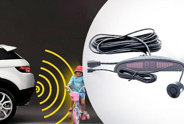 Kit Sensor de Retroceso para Automóviles, 4 Sensores