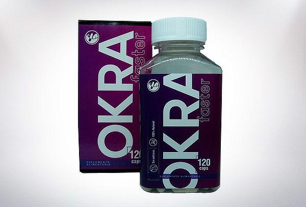 Okra Faster 500 mg Natural Farm 120 Caps