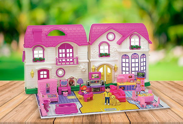 Casa Muñecas Niña Didactico Juego Familia