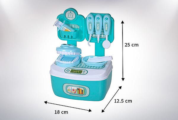 Kit Maleta Dentista Niños Juego Didactico 12 Piezas