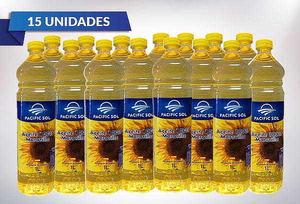 Pack 3, 6 o 15 Aceites 100% Maravilla 1 Litro Pacific Sol