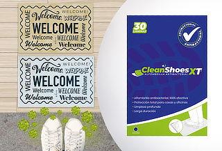 ¡Fuera bichos! Alfombrilla antibacterial CleanShoes XT