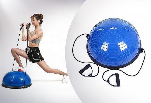 Balón de resistencia y equilibrio Bosu, color azul