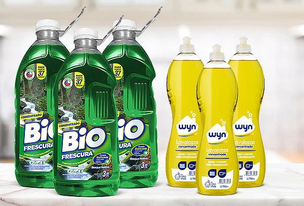 Mega Pack de Limpieza 9Lts BioFrescura + 3 Lavaloza Wyn