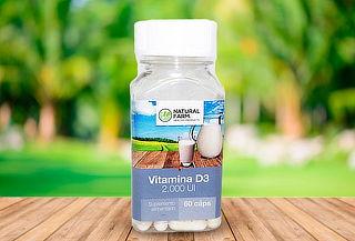Vitamina D3 60 Capsulas 2000 Ui Natural Farm