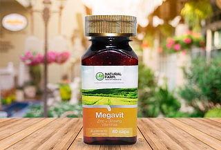 Megavit Multivitaminico 60 Caps Zinc Ginseng