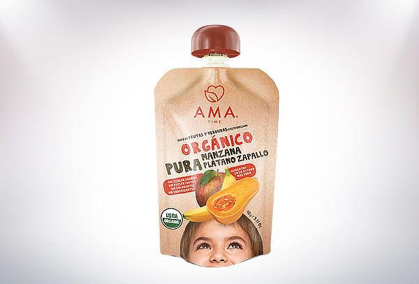 Pack de 32 Puré Ama Orgánico 90G, sabor a elección