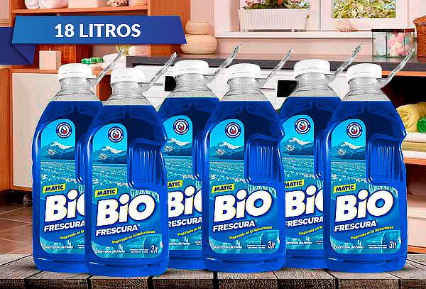18 Litros Detergente Líquido Bio Frescura, Campos de Hielo
