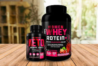 100% Women Whey 2lbs  Foodtech + 100% Women keto