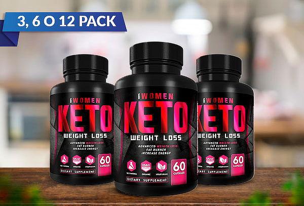 3, 6 o 12 Pack 100% Women Keto