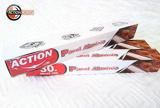 60 o 90 mts de Papel Aluminio Action