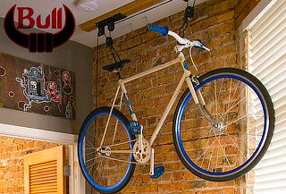 Elevador de Bicicletas con Polea de Fierro + 2 Straps