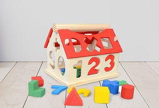 Casa Número Infantil de Madera