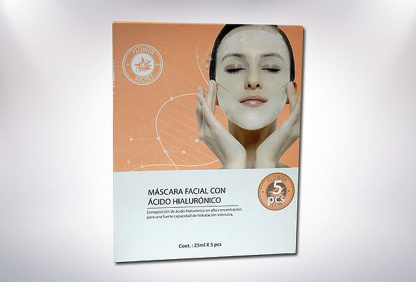 Pack 5 Mascarilla Facial con Ácido Hialurónico Flower Secret