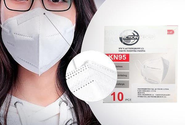 30 Mascarillas KN95 Blancas Certificadas