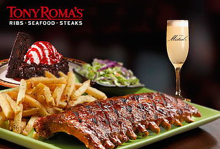 Tony Roma's! Menú Premium para 2 Personas