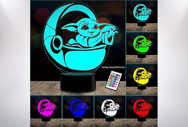 Lámpara ilusión 3D 7 Colores