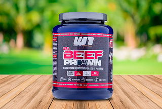 Proteína de carne Beef Pro Win sabor Chocolate 1 kg.