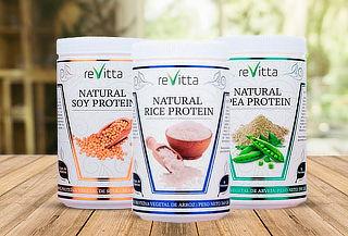 Proteína de vegana  Natural Pea. Sabor a elección