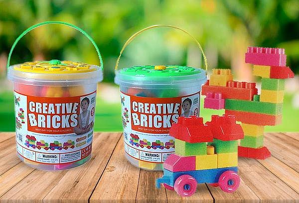 Bloques 56 Pcs Balde Lego Didactico Niños Juegos