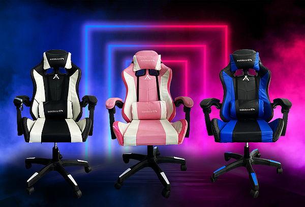 Silla Gamer RGB con luces led y masajeador lumbar