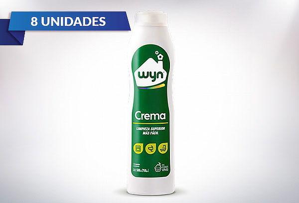 ¡Super Pack! 8 Botellas Crema Limpieza Wyn 750ml