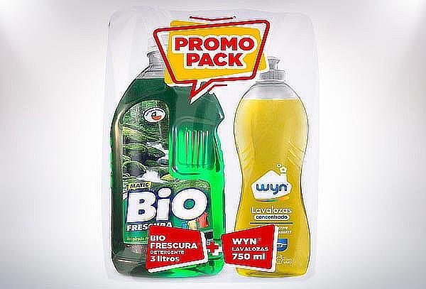 Mega Pack de Limpieza 12Lts BioFrescura + 4 Lavaloza Wyn