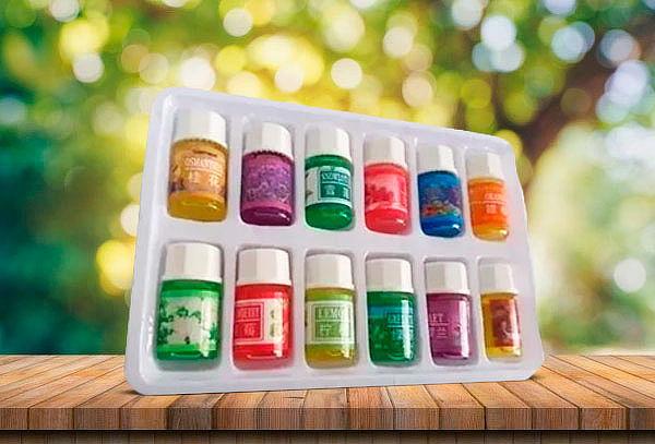 Pack x12 Aceites para Humidificador Velas Aromaterarpia