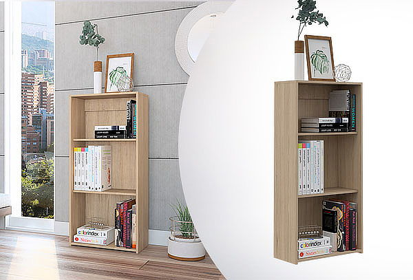Biblioteca Kalo 1.20 mt. Color a elección