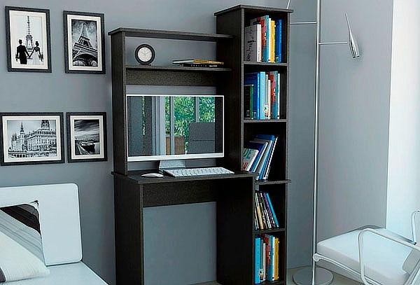 Escritorio Office 6, Color Wengue (Negro).