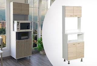 Mueble de Cocina Kitchen 54, Blanco / Rovere
