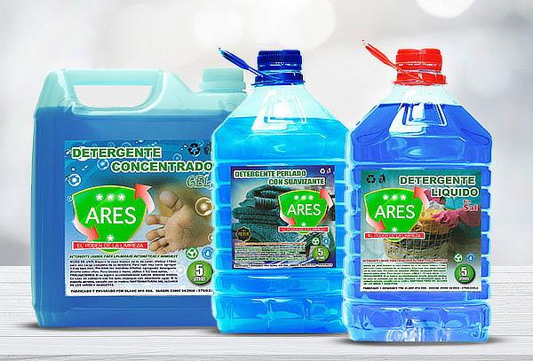 Pack de 3 Detergente 5 lts cada uno Marca Ares