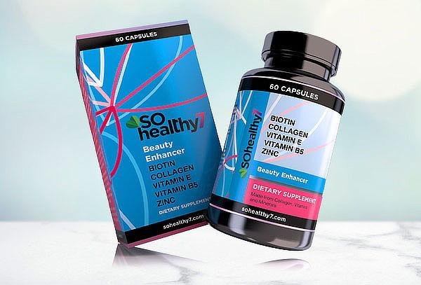 Sohealthy 7 + Hair Con Biotina, Colageno, Zinc, vitamina E