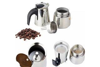 ¡100% Libre de Aluminio! Cafetera Acero Inoxidable