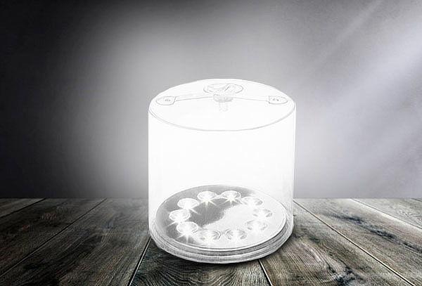 Lampara Solar Linterna Inflable Plegable