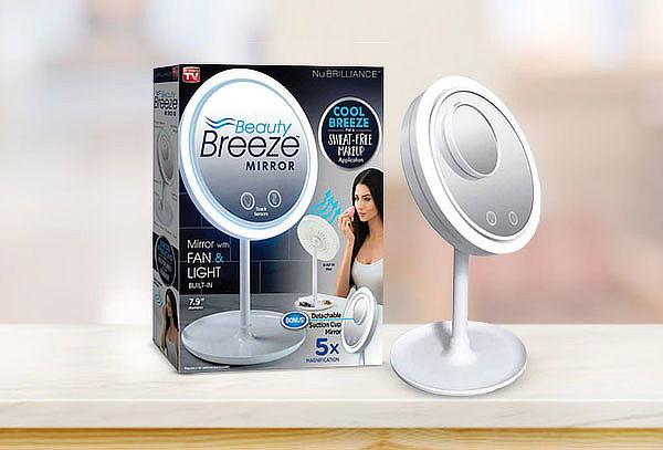 Espejo LED Maquillaje con Ventilador Fan & Light