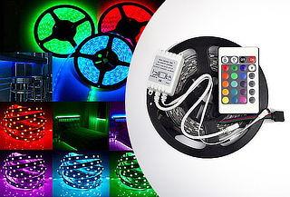 1 o 2 Cinta LED 5 Mts Colores + Control Remoto USB