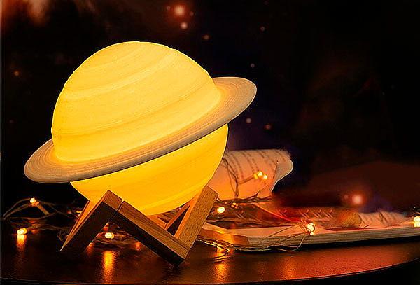 Lampara Saturno Touch Cambia Color