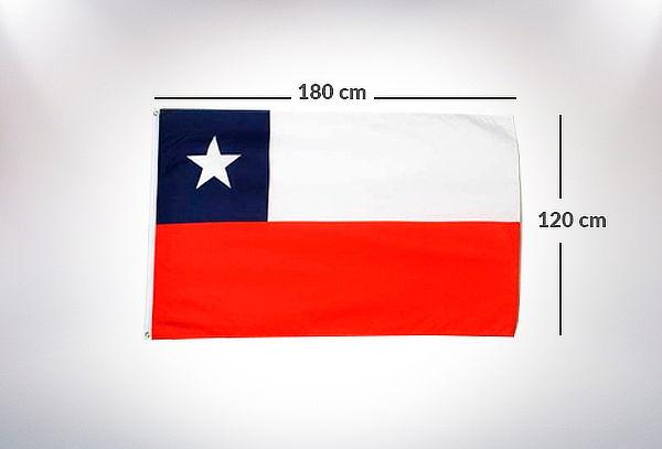 Bandera de Chile 120x180 Estampada doble costura